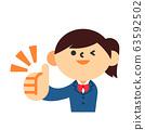 學生女孩制服豎起大拇指好 63592502