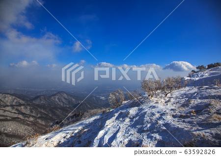눈오는 날의 소백산의 산행, 설경, 눈꽃들...^.^ 63592826