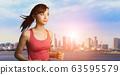 女人慢跑 63595579