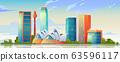 Sydney, Australia skyline with Opera house banner 63596117