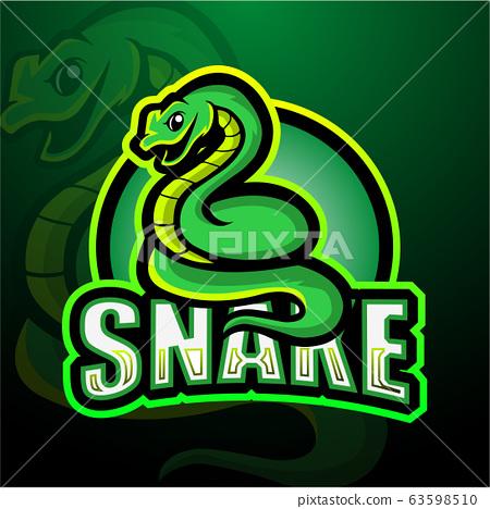 Snake mascot esport logo design 63598510