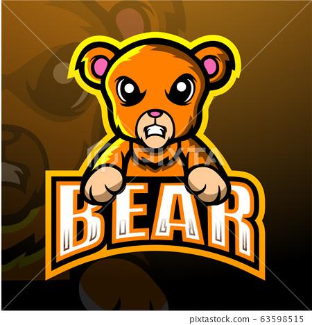 Bear mascot esport logo design 63598515