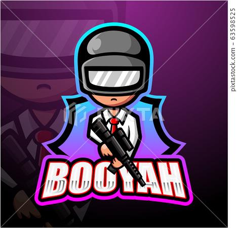 Shooter mascot esport logo design 63598525