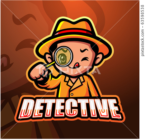 Detective mascot esport logo design 63598538