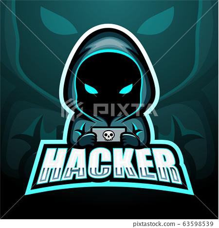 Hacker mascot esport logo design 63598539