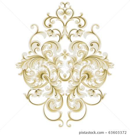 美麗優雅復古的蕾絲齋月巴洛克花卉 63603372