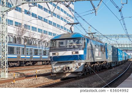 [화물 열차 EF210 컨테이너 신코 야스 역] 63604992