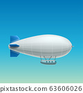 realistic white airship side view 63606026