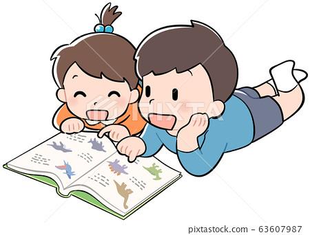 아이, 어린이, 남매 63607987