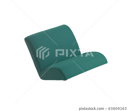 green couch isolated on white 63609163