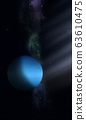 Space illustration of Uranus 63610475