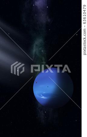 Space illustration of Neptune 63610479