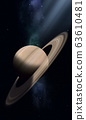 Space illustration of Saturn 63610481
