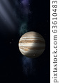 Space illustration of Jupiter 63610483