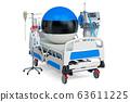 Estonian Healthcare, ICU in Estonia. 3D rendering 63611225