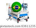 Brazilian Healthcare, ICU in Brazil. 3D rendering 63611235