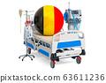 Belgian Healthcare, ICU in Belgium. 3D rendering 63611236