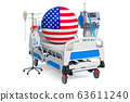 American Healthcare, ICU in the USA. 3D rendering 63611240