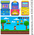 Gamble Machine, Pixel Game, Adventure Icon Vector 63614363