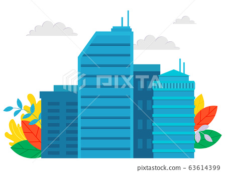 Business Construction, High Building, City Vector 63614399
