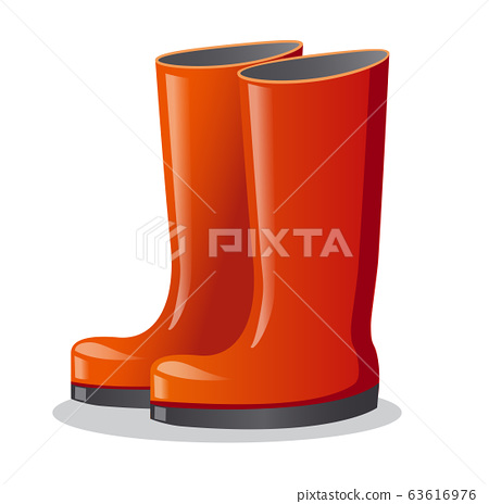 rubber red boots 63616976