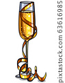 champagne glass 63616985