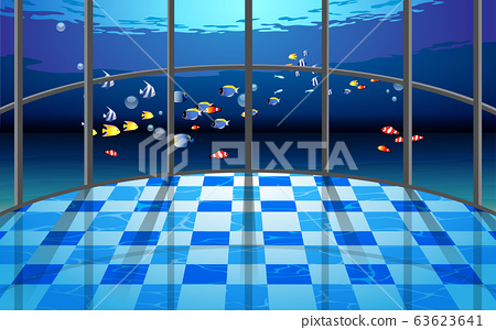 view of beautiful aquarium in the hall 63623641