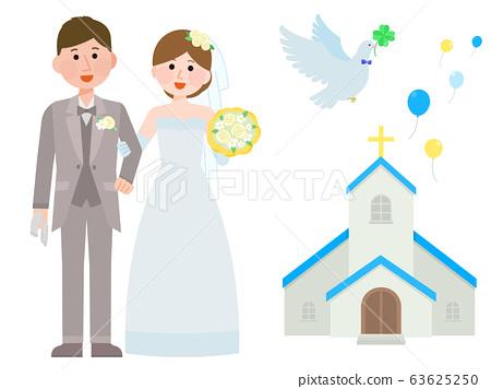Wedding Reception Set Illustration 63625250