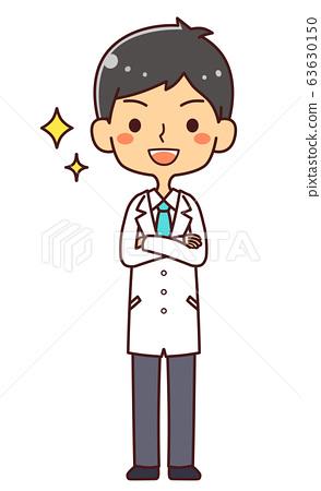 의사 닥터 젊은 남성 전신 동기 63630150