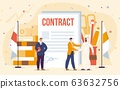 Contract with Arabian Businessman Vector Concept 63632756