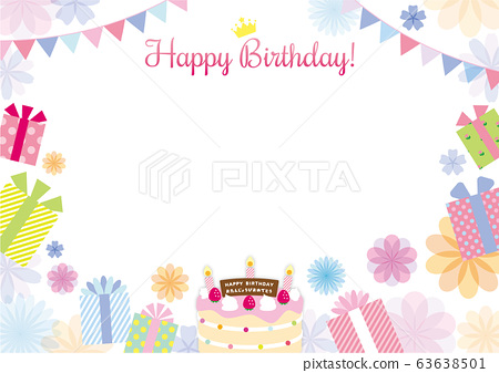 Birthday Happy Birthday Flower Stock Illustration 63638501 Pixta
