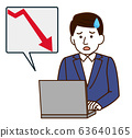 Stock price Sales Down Men Simple Illustration 63640165