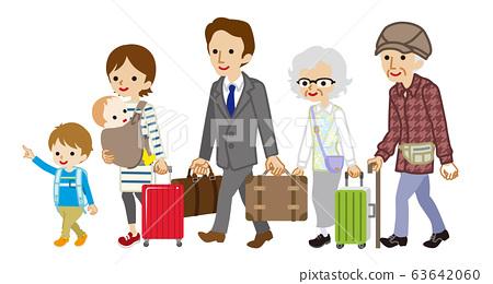 家庭旅行三代人 63642060