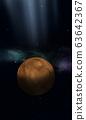 Space illustration of Mars 63642367