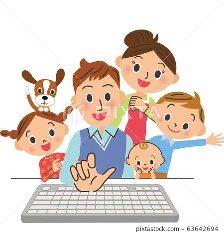 爸爸操作電腦 63642694