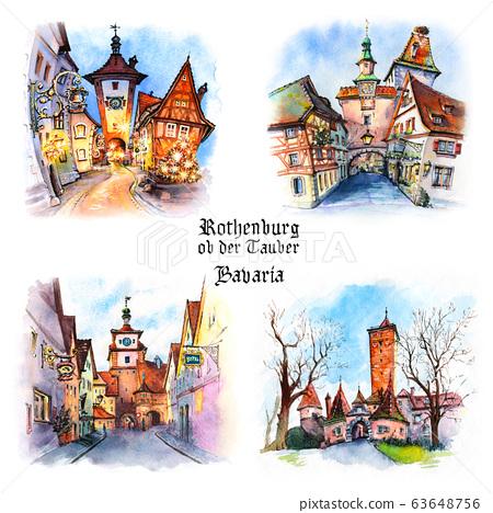 Rothenburg ob der Tauber, Germany 63648756