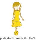 兒童跳舞舞廳女孩的插圖 63651624