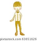 兒童跳舞舞廳男孩的插圖 63651626