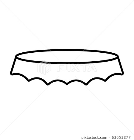Isolated beer bottle cap icon 63653877