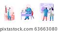 Set of Neurology Doctors Characters Brain and Senses Diseases Diagnostics. Stroke and Headache, Migraine 63663080