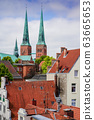 red Luebeck, View of the old city. 63665653