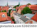 red Luebeck, View of the old city. 63665660