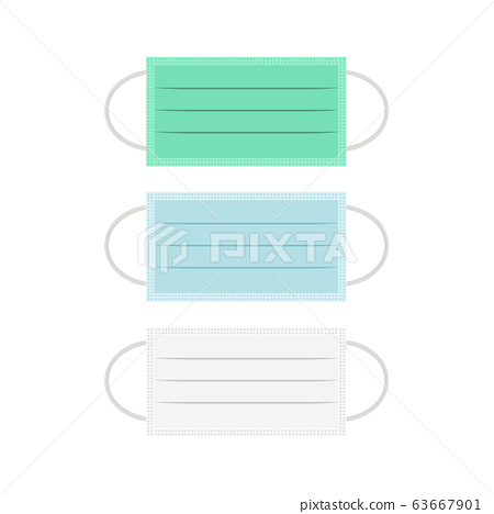 different of color medical mask isolated on white background illustration vector 63667901