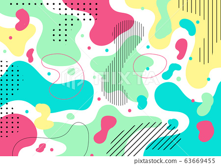 Abstract colorful liquid shape and pebble pattern 63669455