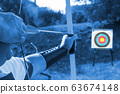 Medieval archer to use a bow and arrow and shoot 63674148