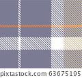 The element of seamless plaid pattern. 63675195