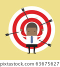 African businessman on archery targets. 63675627
