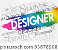 DESIGNER word cloud, creative concept 63678908