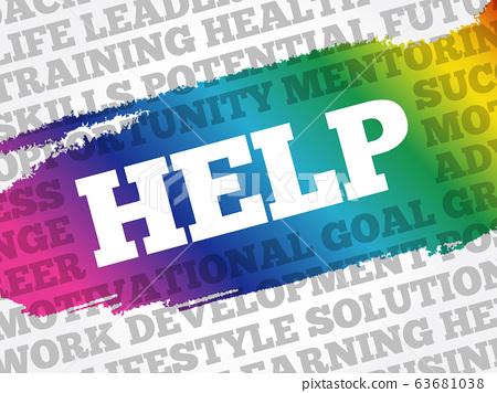 HELP word cloud background 63681038