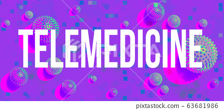 Telemedicine theme with viral objects 63681986